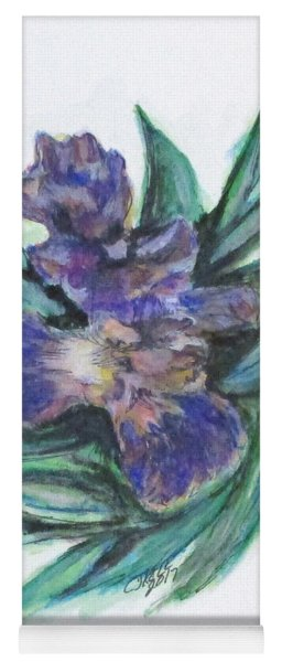 Spring Iris Bloom Yoga Mat