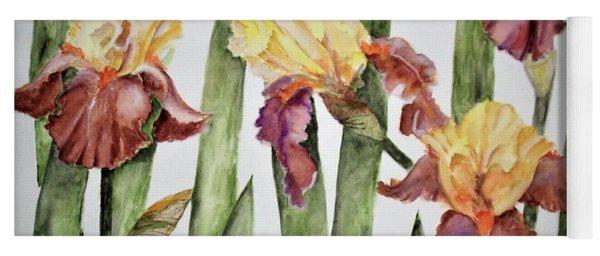 Spring Iris Yoga Mat