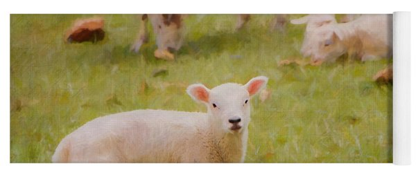 Spring Lamb Yoga Mat