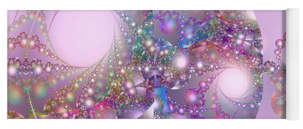 Spring Moon Bubble Fractal Yoga Mat