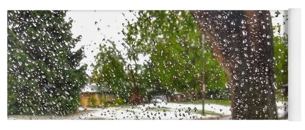 Yoga Mat featuring the photograph Spring Rain by Gina Bonelli