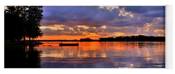 Yoga Mat featuring the photograph Spring Reflections by Lisa Wooten