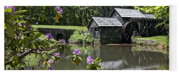 Spring Reflections Of An Ancient Mill Yoga Mat