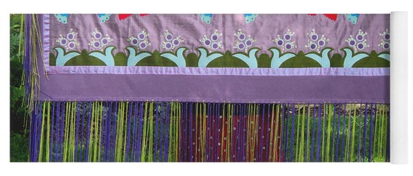 Yoga Mat featuring the tapestry - textile Spring Rising by Chholing Taha