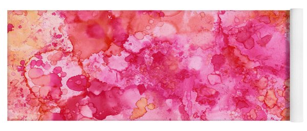Spring Rose Abstract Yoga Mat