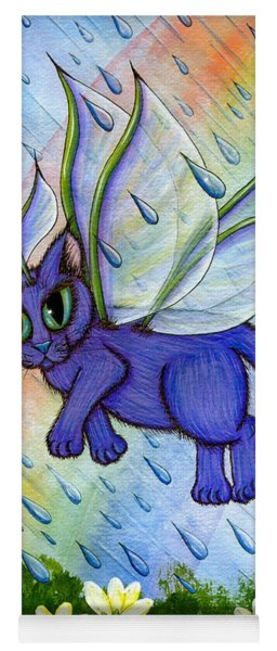 Spring Showers Fairy Cat Yoga Mat