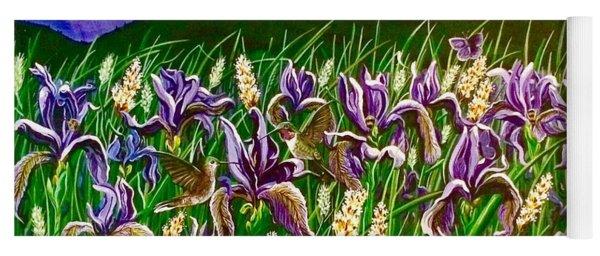 Spring Storm  Iris Fields Yoga Mat