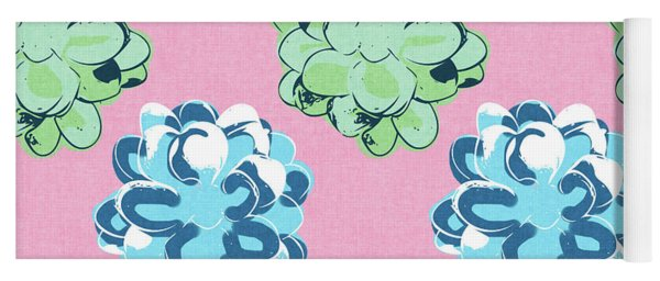 Spring Succulents- Art By Linda Woods Yoga Mat