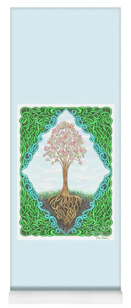 Spring Tree With Knotted Roots And Knotted Border Yoga Mat