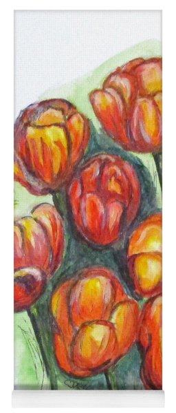 Spring Tulips Yoga Mat