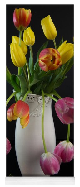 Spring Tulips In Vase Yoga Mat