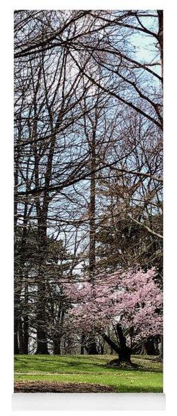 Spring Walk On Campus Yoga Mat