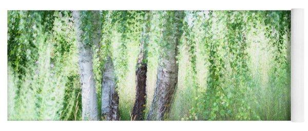 Spring Wind In Birch Grove Yoga Mat