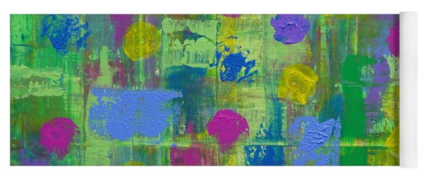 Yoga Mat featuring the painting Springtime Abstract by Jimmy Clark