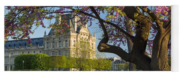 Yoga Mat featuring the photograph Springtime In Paris by Brian Jannsen