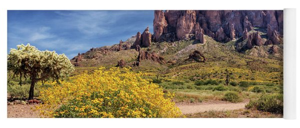 Springtime In The Superstition Mountains Yoga Mat