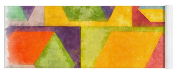 Square Cubes Abstract Yoga Mat