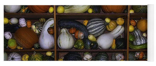 Squash And Gourds In Compartments Yoga Mat