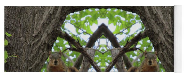 Squirrel Guardians Of The Doorway To A Green World Yoga Mat