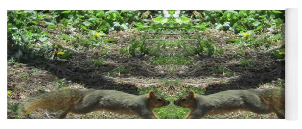 Squirrels Coming Together For A Kiss Yoga Mat