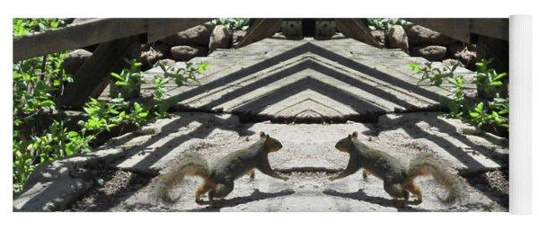 Squirrels Dancing On A Bridge Yoga Mat
