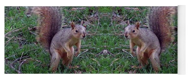 Squirrels With Question Mark Tails Yoga Mat