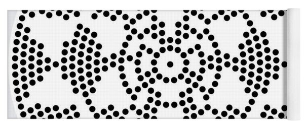 Yoga Mat featuring the digital art Sri Dots by Robert Thalmeier
