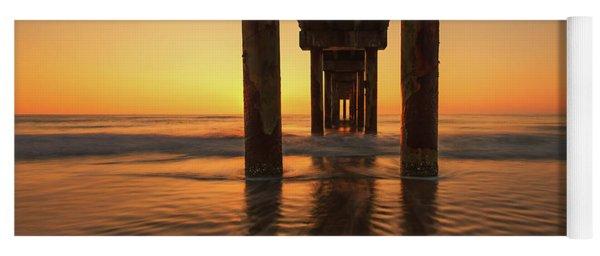 St Augustine Beach Pier Morning Light Yoga Mat