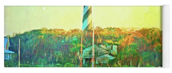 St Augustine Lighthouse Waterscaped Yoga Mat