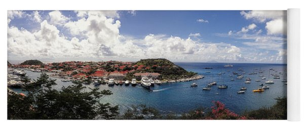 Yoga Mat featuring the photograph St. Barths Harbor At Gustavia, St. Barthelemy by Lars Lentz
