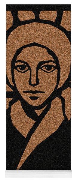 St. Bernadette Of Lourdes - Brown Glass - Dbbbg Yoga Mat