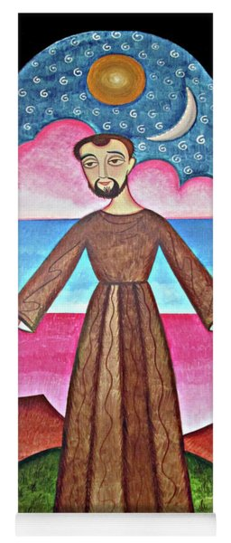 St. Francis Of Assisi - Herald Of Creation - Aofhc Yoga Mat