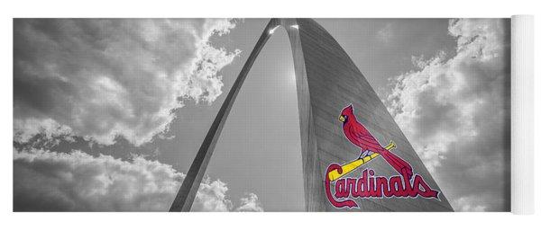 St. Louis Cardinals Busch Stadium Gateway Arch 1 Yoga Mat