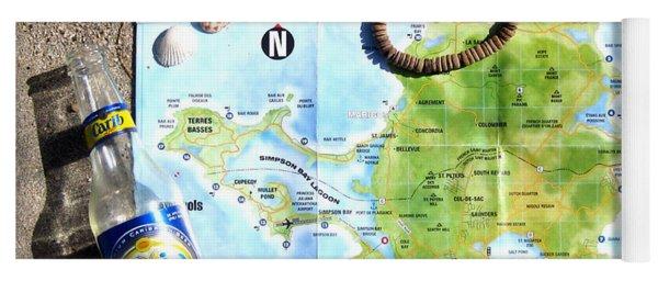 St. Martin St. Maarten Map Yoga Mat