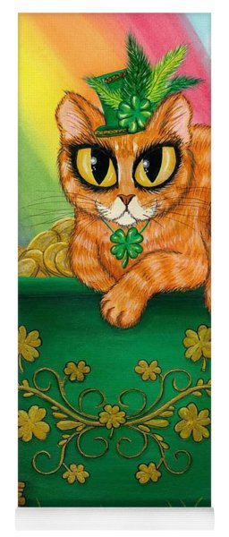 St. Paddy's Day Cat - Orange Tabby Yoga Mat
