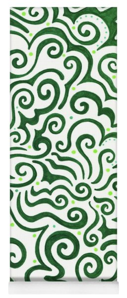 St Patrick's Day Abstract Yoga Mat