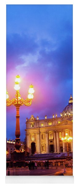 St. Peters Cathedral At Night Yoga Mat