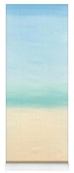 St Thomas #1 Seascape Landscape Original Fine Art Acrylic On Canvas Yoga Mat