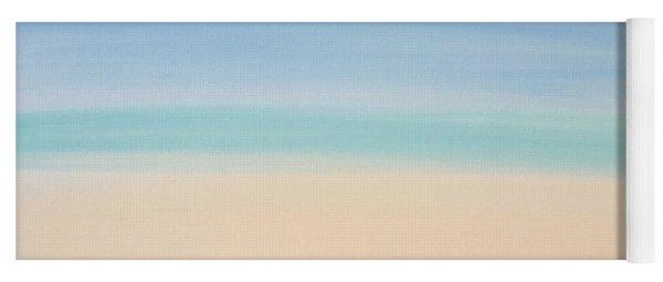 St Thomas #2 Seascape Landscape Original Fine Art Acrylic On Canvas Yoga Mat
