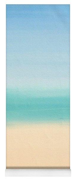 St Thomas #3 Seascape Landscape Original Fine Art Acrylic On Canvas Yoga Mat