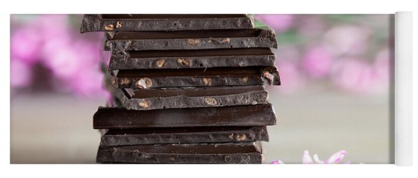 Stack Of Chocolate Yoga Mat