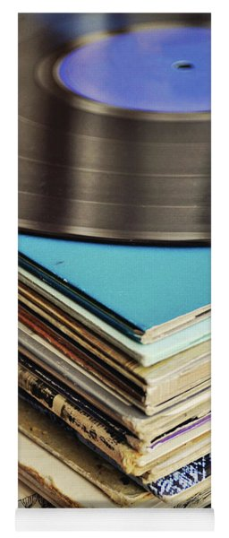 Stack Of Records Yoga Mat