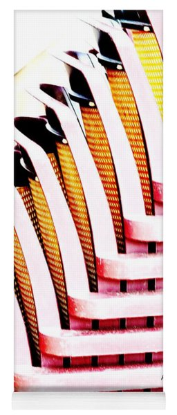 Stacked Chairs Abstract Yoga Mat