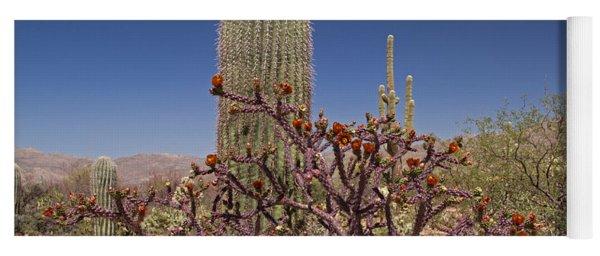 Staghorn Cholla And Saguaro Cactus Yoga Mat