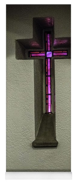 Stained Glass Cross Yoga Mat
