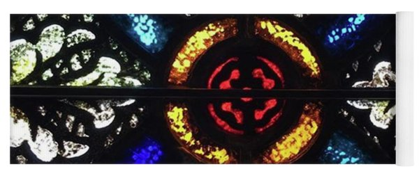 Stained Glass From Chapel Yoga Mat