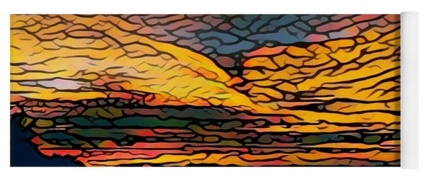 Stained Glass Sunset Yoga Mat