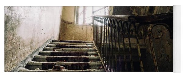 Stairs In Haunted House Yoga Mat