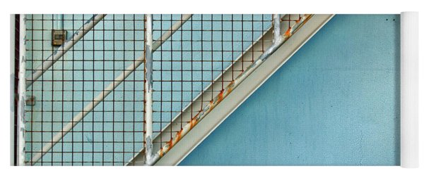 Stairs On Blue Wall Yoga Mat