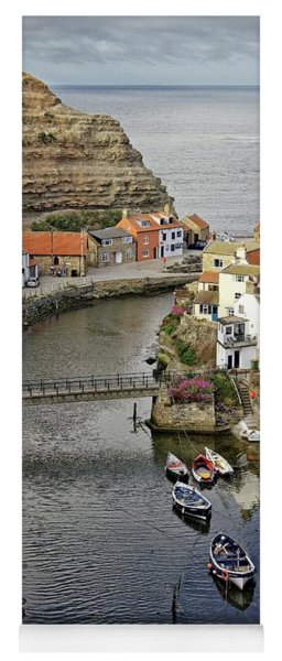 Staithes Fishing Village, Yorkshire Yoga Mat